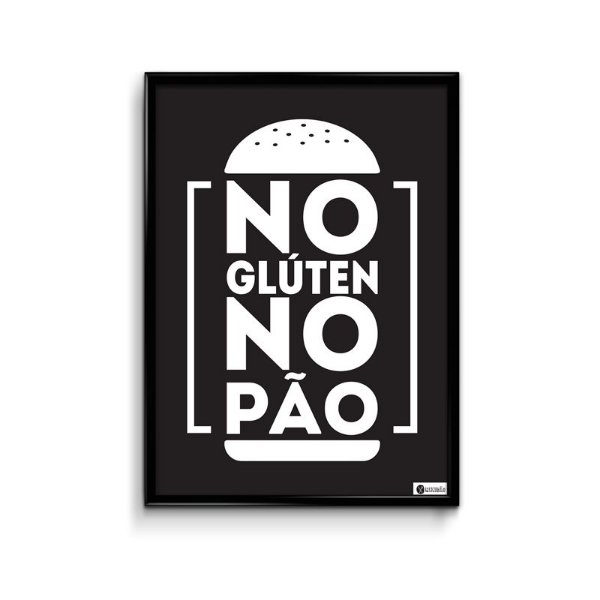 Pôster: No Glute No Pão (FRETE GRÁTIS)