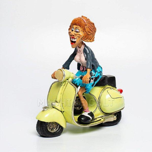 Miniatura Motoqueira - Presente para Mulher Motociclista