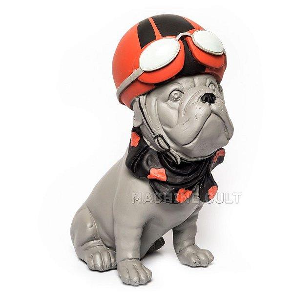 Miniatura Decorativa Cachorro Com Capacete