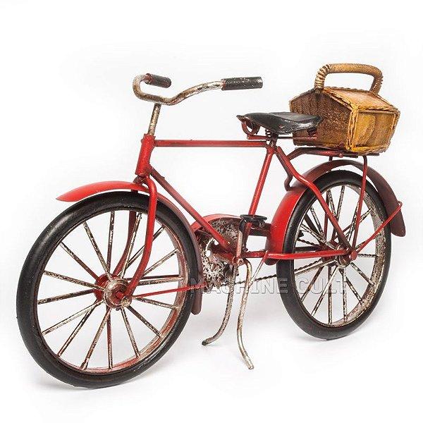 Miniatura Bicicleta com Bagageiro