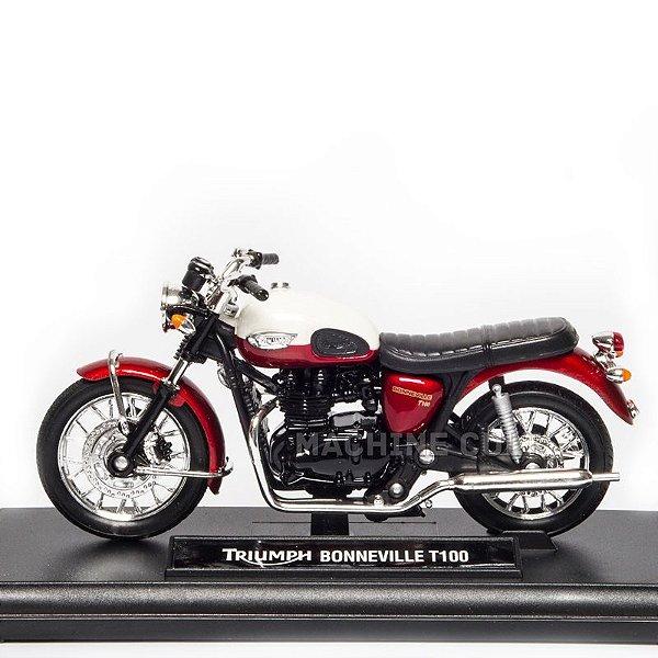 Miniatura Triumph Boneville T100 Bicolor - Welly 1:18