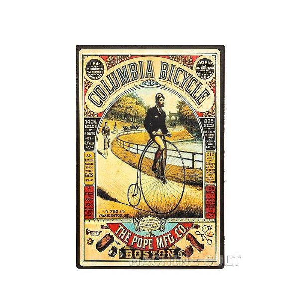 Placa Madeira Bicicleta