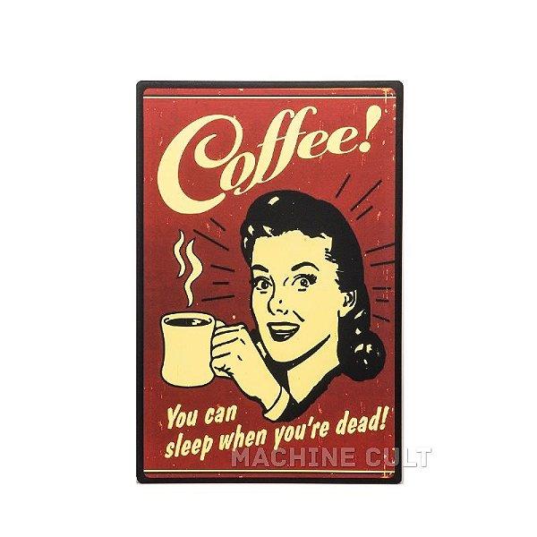 Placa Madeira Cafeí