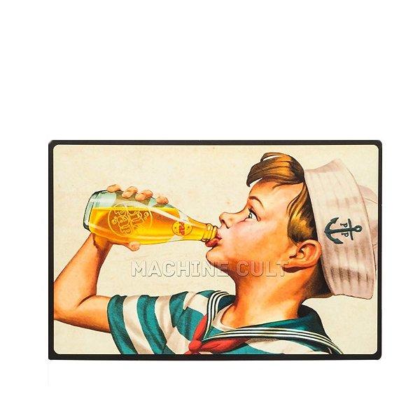 Placa Madeira Soda Vintage