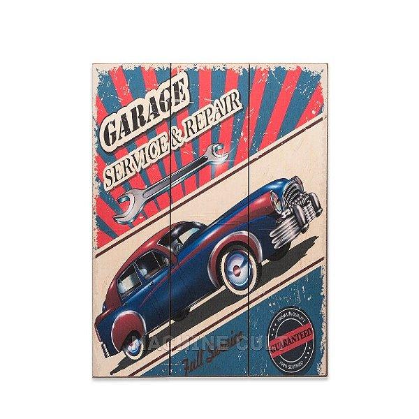 Placa Madeira Carro Vintage