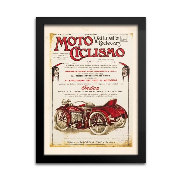 Quadro Decorativo Indian Motociclismo