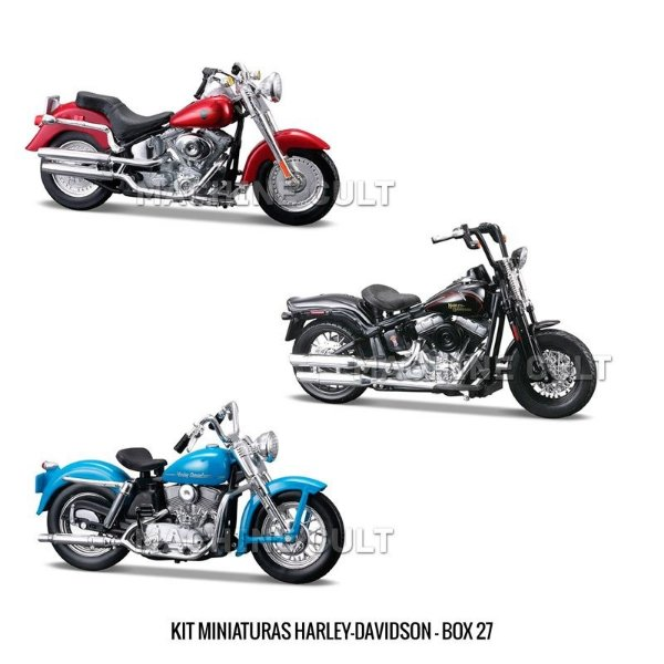 Kit Miniaturas Harley-Davidson - Box 27