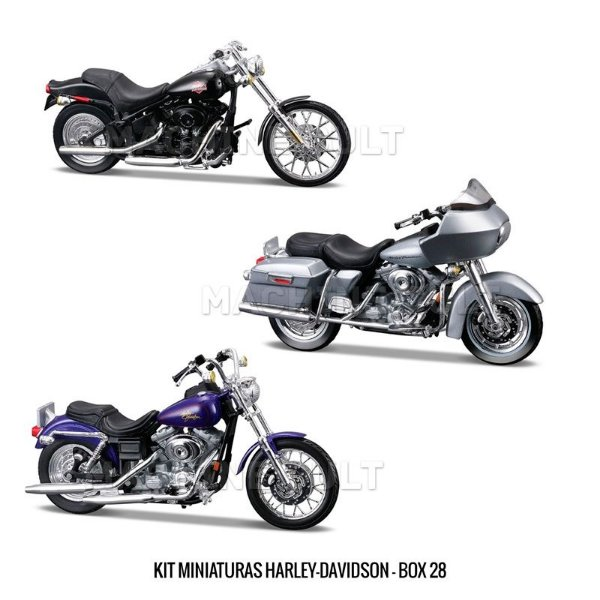 Kit Miniaturas Harley-Davidson - BOX 28