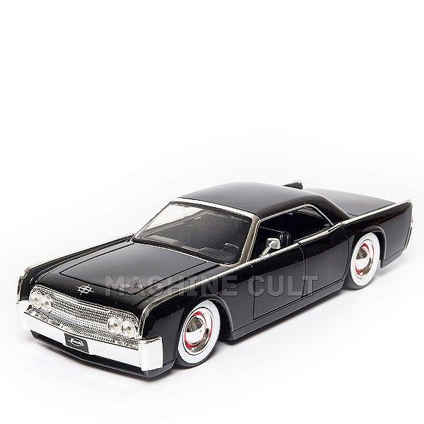 Miniatura Lincoln Continental 1963 Preto - Jada 1:24