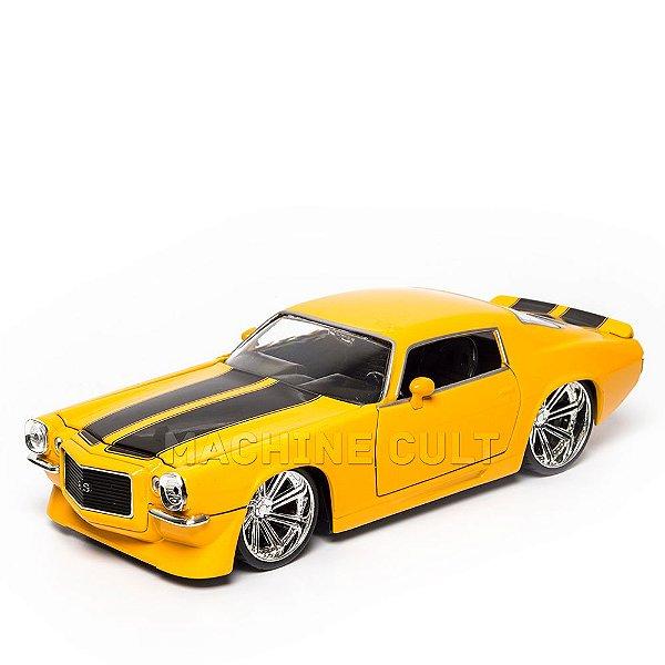 Miniatura Chevy Camaro 1971 Amarelo - Jada 1:24