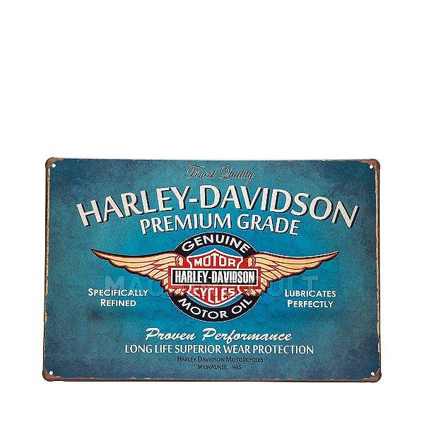 Placa em Metal Harley-Davidson Premium Grade