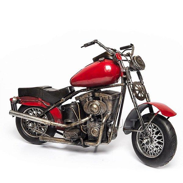 Moto em Metal Vermelha