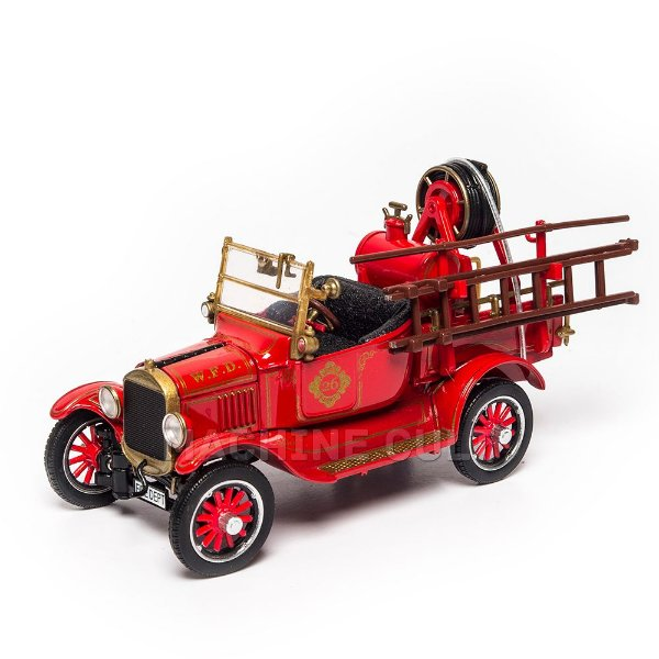 Miniatura Ford 1920 Model T Bombeiro 1:32 Unique Replica