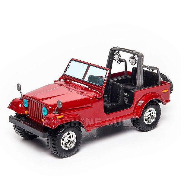 Miniatura Jeep Wrangler Vermelho 1:24 Burago