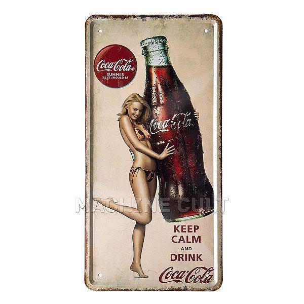 Placa Decorativa Coca-Cola Summer