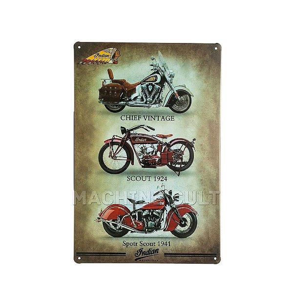 Placa Decorativa Indian Motorcycle Models