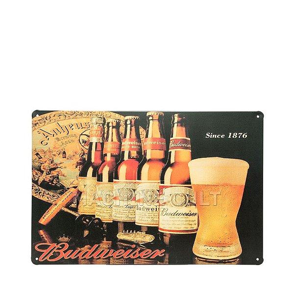 Placa Decorativa Cerveja Budweiser M2