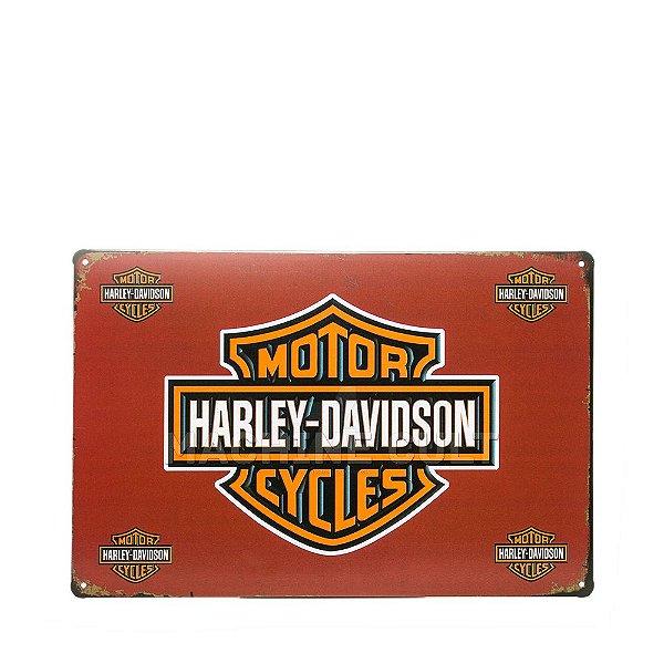 Placa Decorativa Harley-Davidson Logo