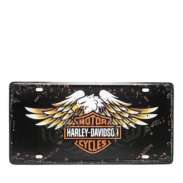 Placa Harley-Davidson Motorcycles M1 - Alto Relevo