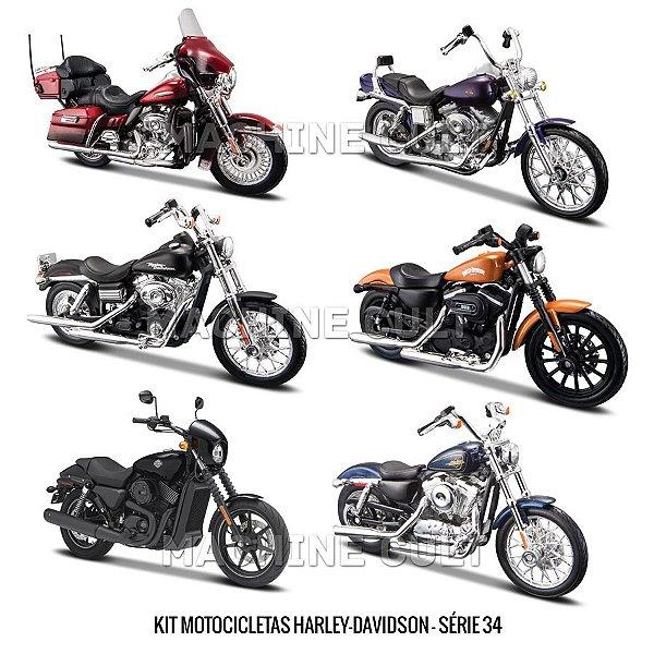Kit Motocicletas Harley-Davidson - Série 34 - 6 unidades