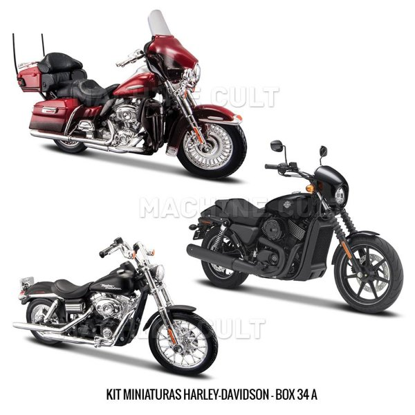 Kit Miniaturas Harley-Davidson - Série 34 - BOX 34A