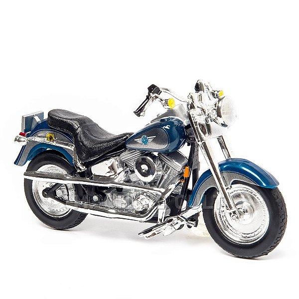 Miniatura Harley-Davidson 1998 FLSTF FAT BOY - 1:18