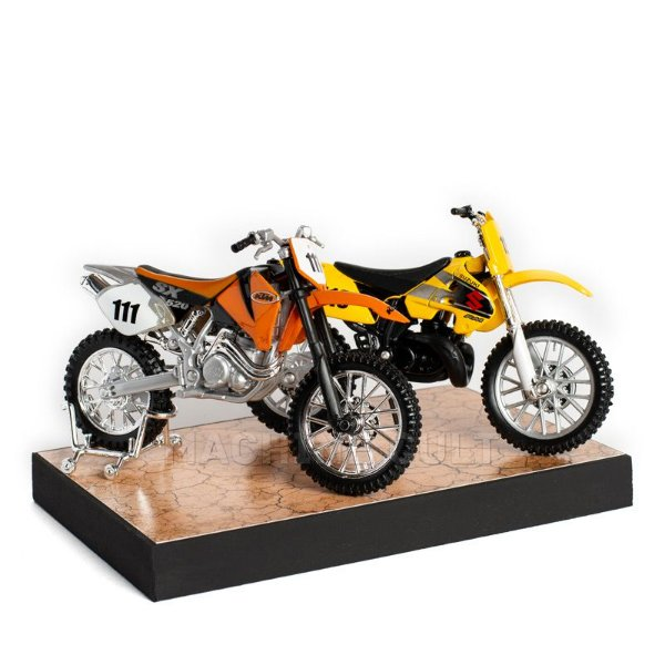Kit de Miniaturas Motos de Trilha Motocross - Box 15