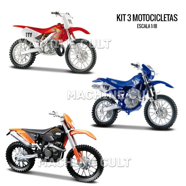 Kit de Miniaturas Motocross - Box 16