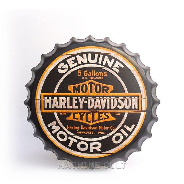 Placa Harley-Davidson M6 - Alto Relevo
