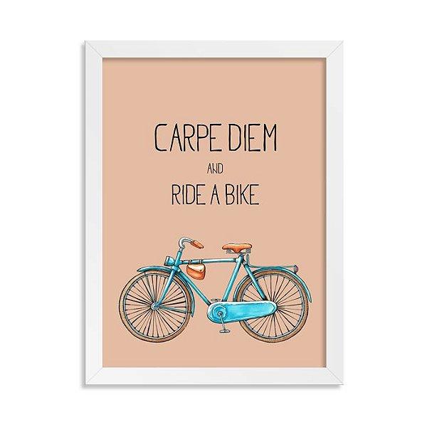 Quadrinho Bicicleta Carpe Diem