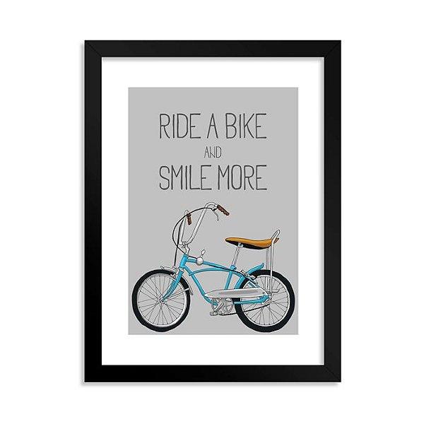 Quadrinho Decorativo Ride a Bike