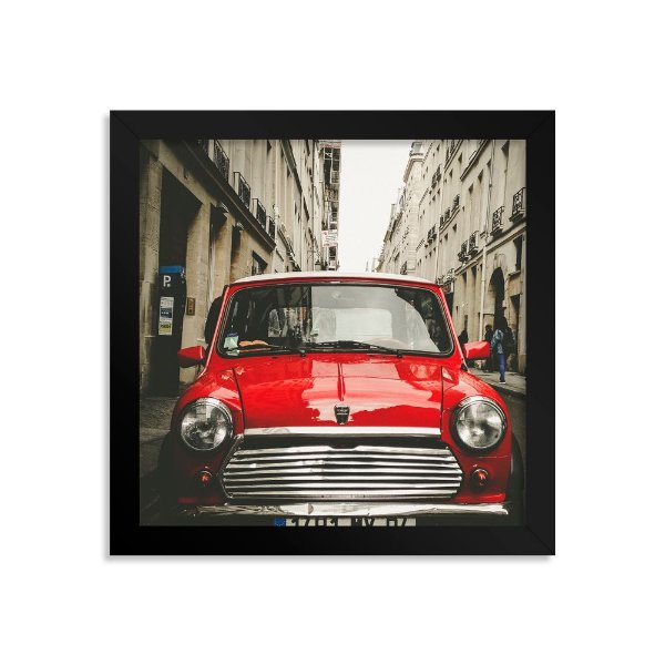 Quadro Decorativo Mini Cooper Vermelho
