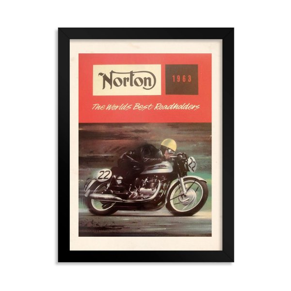 Quadro Decorativo Norton 1963