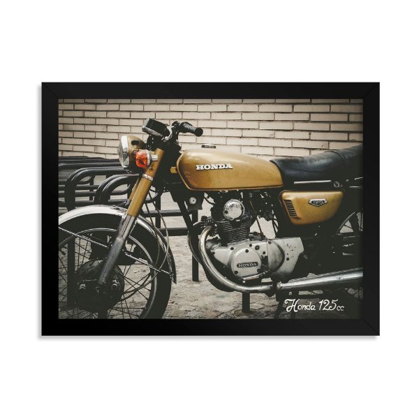 Quadro Decorativo Honda 125 cc