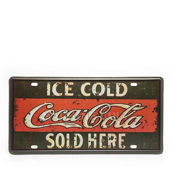 Placa Decorativa em Metal - Coca-Cola - alto relevo
