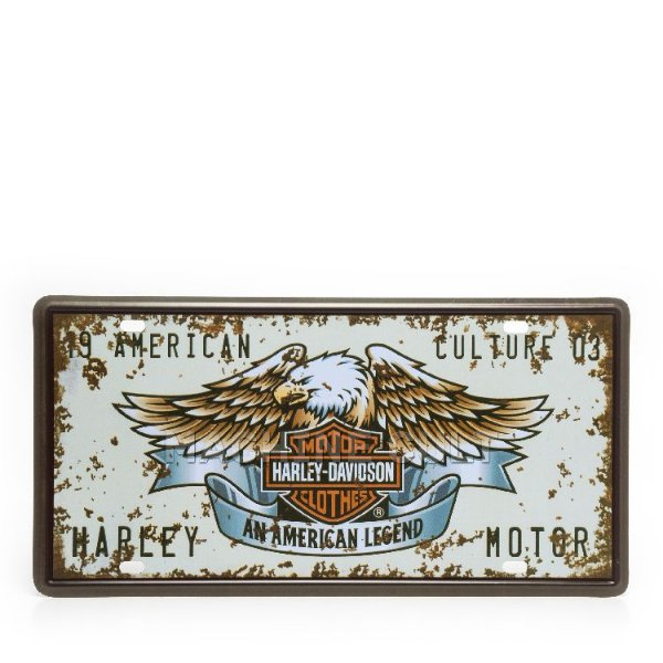 Placa Decorativa em Metal - Harley-Davidson - alto relevo