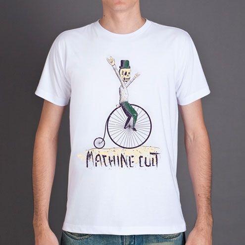 Camiseta Caveira Bicicleta