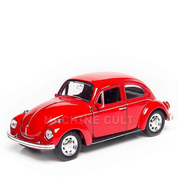 Miniatura Fusca Vermelho Volkswagen - 1:34 Welly