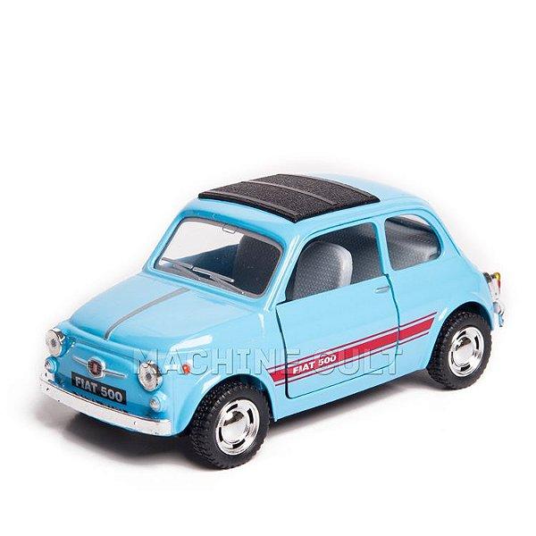 Miniatura Fiat 500 - Azul - 1:24