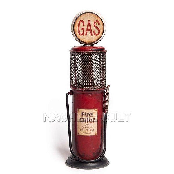 Miniatura Bomba Gasolina Antiga - Vermelha