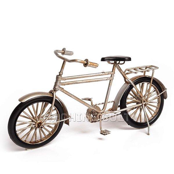 Miniatura Bicicleta Antiga Barra Forte - Prata