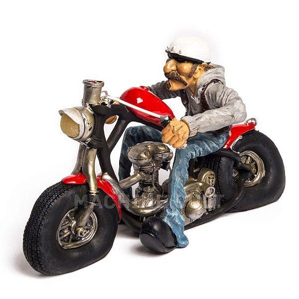 Miniatura Motociclista Vintage