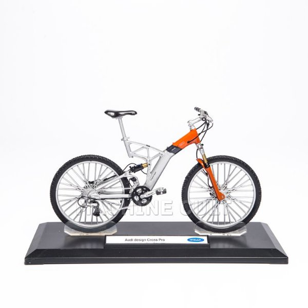 Miniatura Bicicleta Audi design Cross - Laranja - Welly 1:10