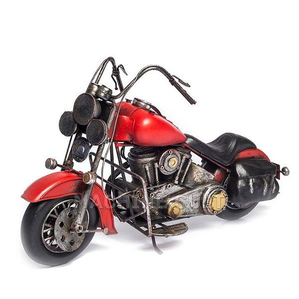 Miniatura Moto Chopper - Vermelha