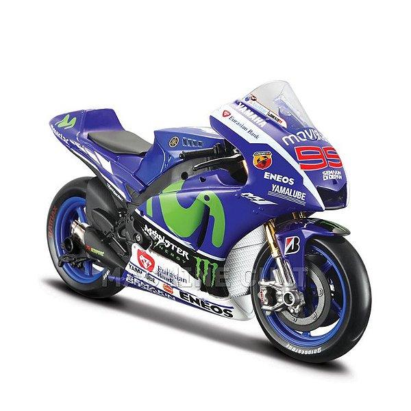 Miniatura Yamaha Movistar Moto GP 2016 - Jorge Lorenzo - Maisto 1:18