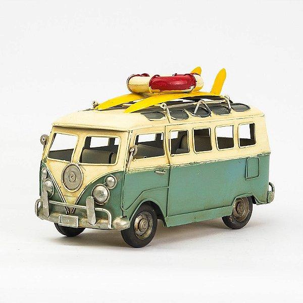 Miniatura Perua Kombi VW - Verde