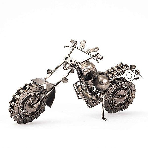 Miniatura Moto Custom Metálica