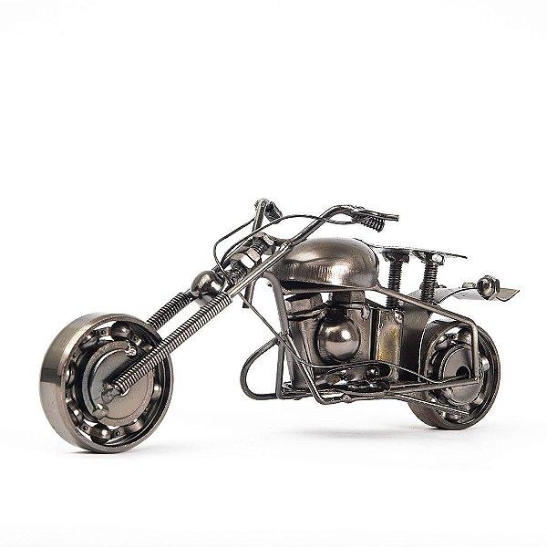 Miniatura Moto Chopper Metálica