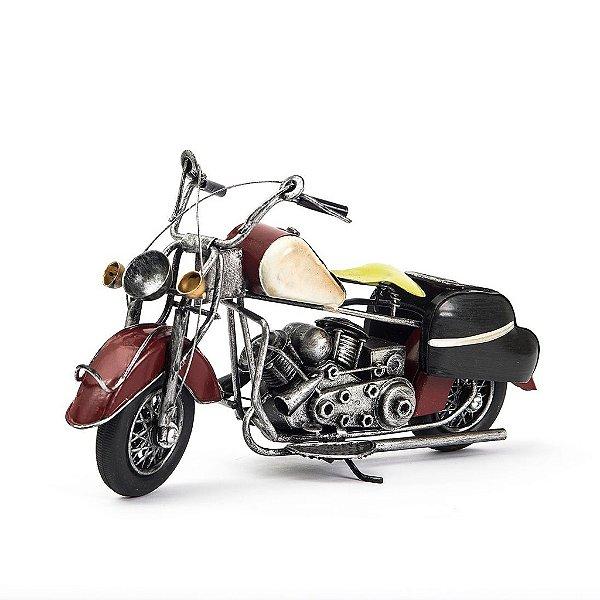 Miniatura Moto Harley-Davidson Vintage - Vermelha