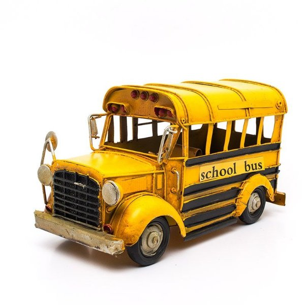Miniatura Ônibus Escolar Antigo